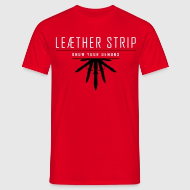 Leaether Strip - Know Your Demons : T-Shirt - red - Männer T-Shirt