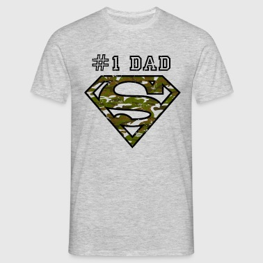 Superman Super Dad Army - T-shirt Homme