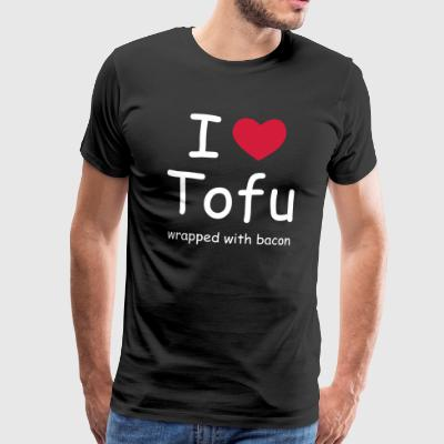 I LOVE TOFU wrapped with bacon - Männer Premium T-Shirt