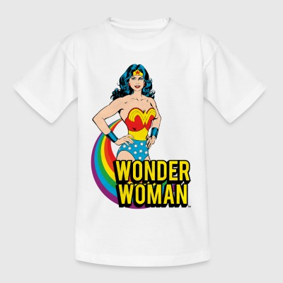 Wonder Woman Arc-en-ciel Ado Tee Shirt - T-shirt Ado