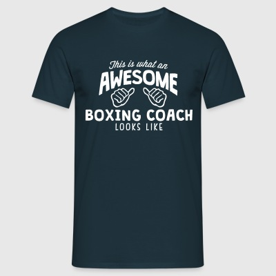 awesome boxing coach looks like - Men's T-Shirt