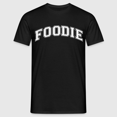 foodie college style curved logo - Men's T-Shirt