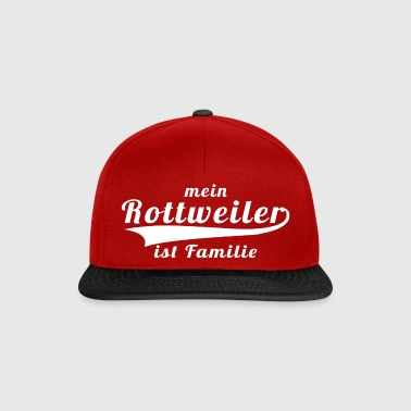 Rottweiler ist Familie - red-sw - Snapback Cap