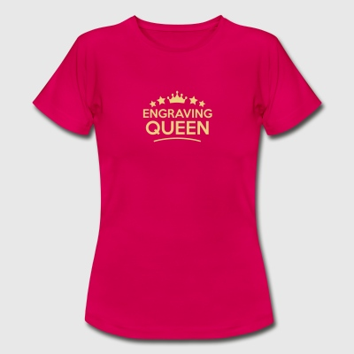 engraving queen stars - Frauen T-Shirt