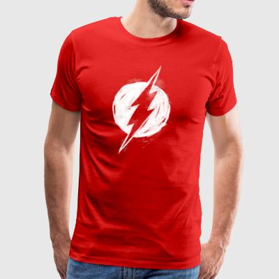 Flash Logo Painted Männer T-Shirt - Männer Premium T-Shirt