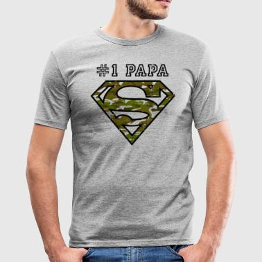 Superman Super Papa Armee - Männer Slim Fit T-Shirt