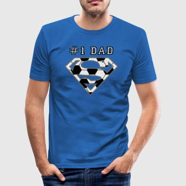 Superman Super Dad Soccer - Männer Slim Fit T-Shirt