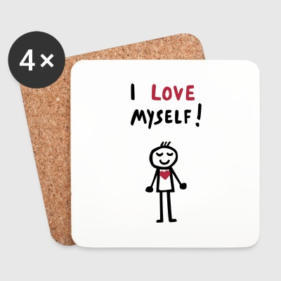 LOVEcoasters I love myself - Untersetzer (4er-Set)