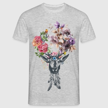 Deer Flower for men - T-shirt Homme