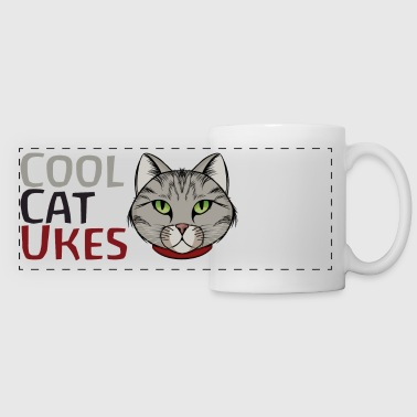 Cool Cat Ukes Mug - Panoramic Mug