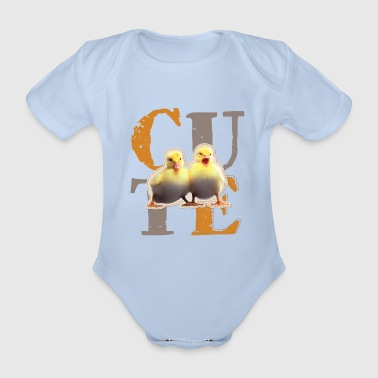 Animal Planet Cute Chick Baby Bodysuit - Organic Short-sleeved Baby Bodysuit