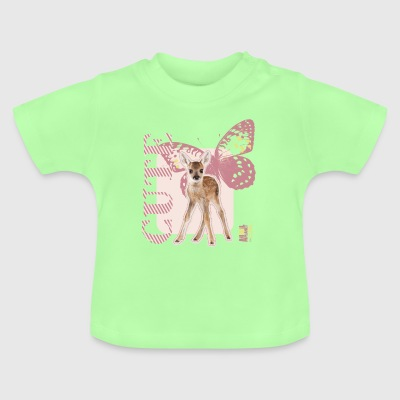 Animal Planet Cute Reh mit Schmetterling Baby T-Sh - Baby T-Shirt