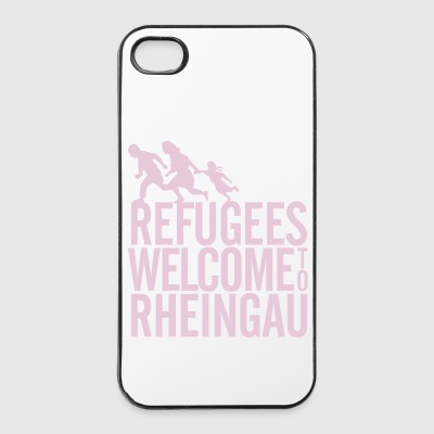 Refugees Welcome to Rheingau Handyhülle 4/4s Rosa - iPhone 4/4s Hard Case