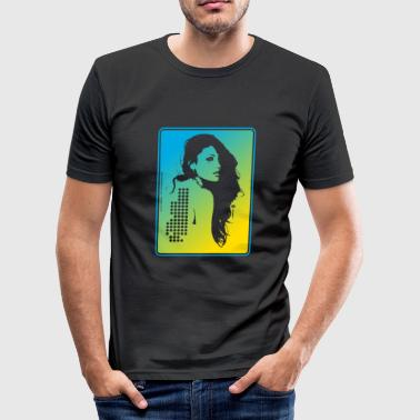 Dark Disco Laser - Men's Slim Fit T-Shirt
