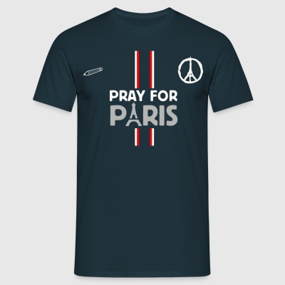 Tee-Shirt Homme Pray For Paris . - T-shirt Homme