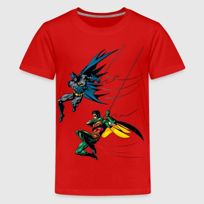Batman and Robin T-skjorte for barn - Premium T-skjorte for tenåringer