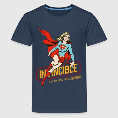 Supergirl Ado Tee Shirt Invincible - T-shirt Premium Ado
