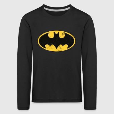 Batman Dark white Men T-Shirt - Premium langermet T-skjorte for barn