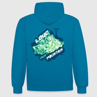 Love your mountian - Contrast Colour Hoodie