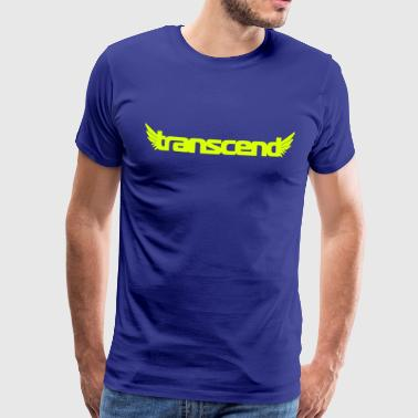 Transcend T-Shirt - Men's - Neon Yellow Print - Men's Premium T-Shirt