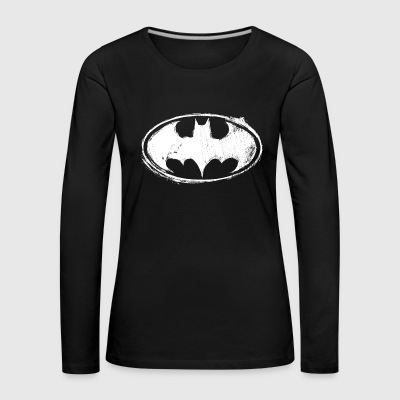 Batman Dark white Women T-Shirt - Premium langermet T-skjorte for kvinner