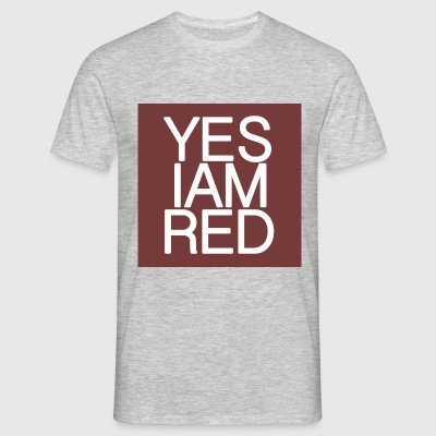 YES/IAM/RED - Männer T-Shirt