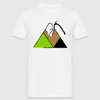 Mountain and Ice Axe - Men's T-Shirt