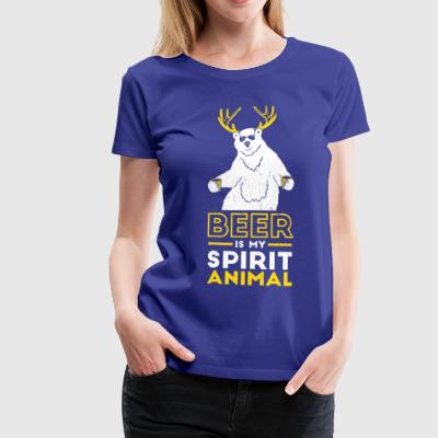 Beer is my spirit Animal - Women's Premium T-Shirt