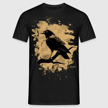 Crow bleached - natural - Männer T-Shirt