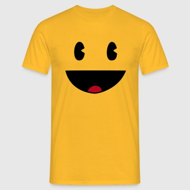 Yellow-XXL-Geocaching Face - Männer T-Shirt