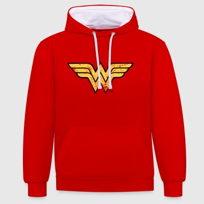 Justice League Woner Woman Logo Pull  - Sweat-shirt contraste