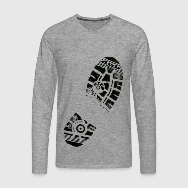 Dub Step Footprint - Men's Premium Longsleeve Shirt