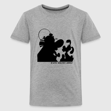 Asterix & Obelix with Idefix shadowTeenager T-Shir - Teenage Premium T-Shirt