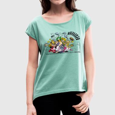 Asterix & Obelix brawl Women's T-Shirt - Women's T-shirt with rolled up sleeves