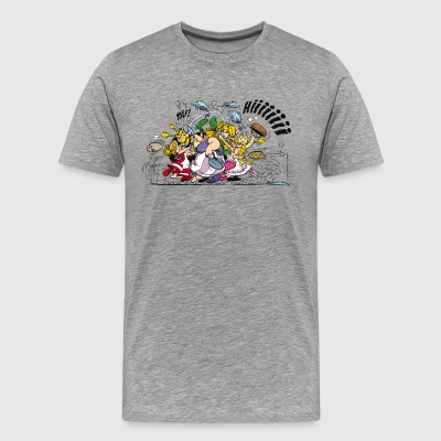 Asterix & Obelix brawl Men's T-Shirt - Herre premium T-shirt