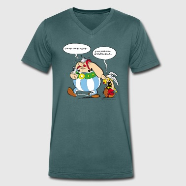 Asterix & Obelix boudeur Tee shirt Homme - T-shirt bio col V Stanley & Stella Homme