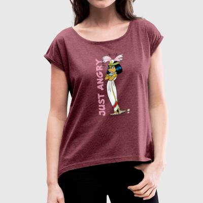 Asterix & Obelix - Cleopatra Just Angry Tee shirt  - T-shirt Femme à manches retroussées