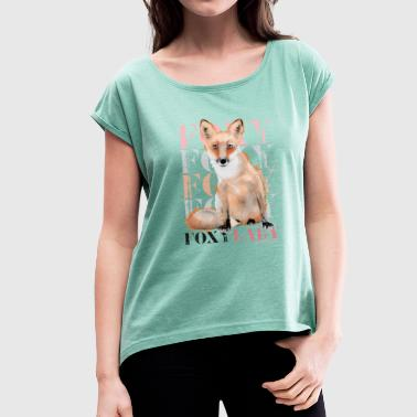 Animal Planet Foxy Frauen T-Shirt - Frauen T-Shirt mit gerollten Ärmeln