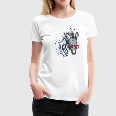 Animal Planet Zebra with sunglasses Women T-Shirt - Premium T-skjorte for kvinner