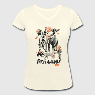 Animal Planet Party Animals Women T-Shirt - Women's Organic V-Neck T-Shirt by Stanley & Stella