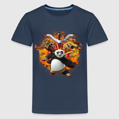Kung Fu Panda Master Group Teenage T-Shirt - Teenage Premium T-Shirt