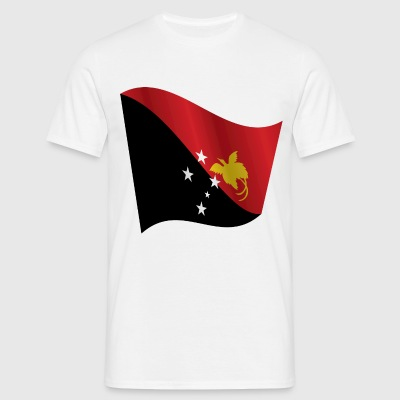 Waving Flag of Papua New Guinea - Men's T-Shirt