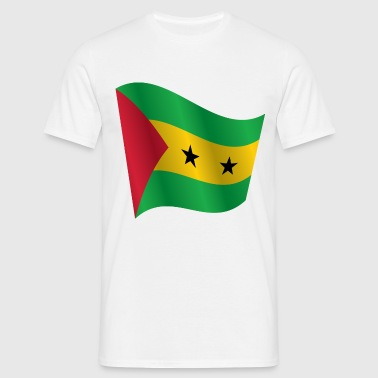 Waving Flag of Sao Tome and Principe - Men's T-Shirt