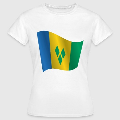 Waving Flag of Saint Vincent and the Grenadines - Women's T-Shirt