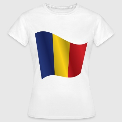Waving Flag of Romania - Women's T-Shirt