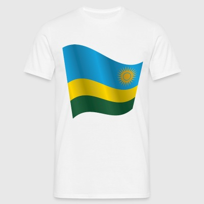 Waving Flag of Rwanda - Men's T-Shirt