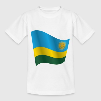 Waving Flag of Rwanda - Kids' T-Shirt