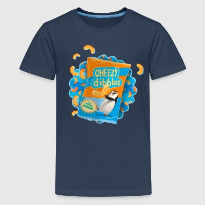 Pinguine aus Madagascar Cheezy dibbles Teenager T- - Teenager Premium T-Shirt