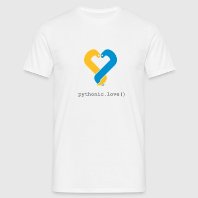 pythonic.love(white) - Men's T-Shirt