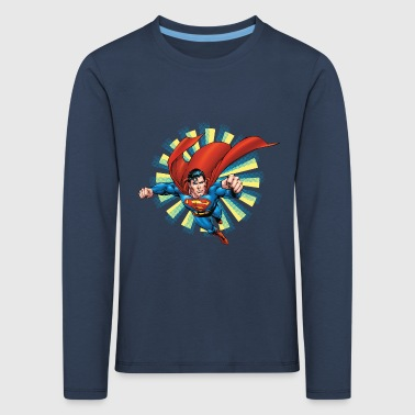 Superman Flying Pose Enfants Tee shirt manches lon - T-shirt manches longues Premium Enfant